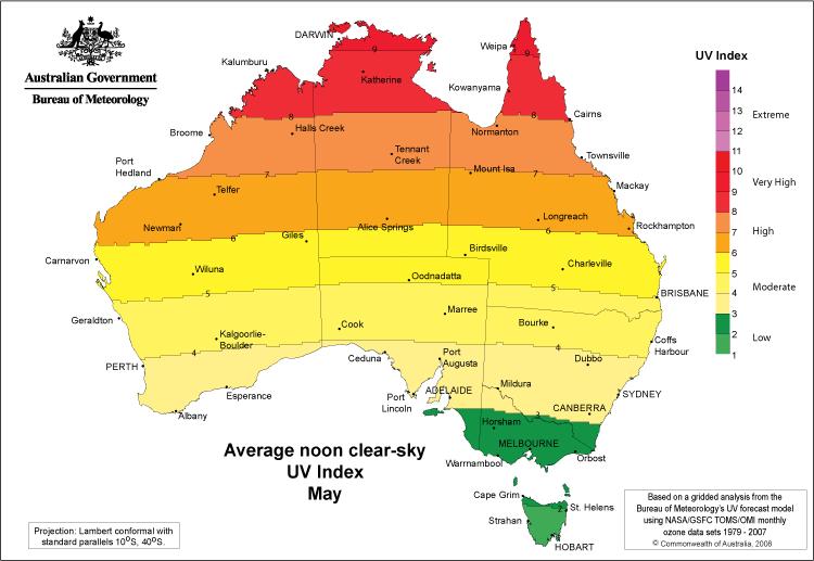 5月のUV map