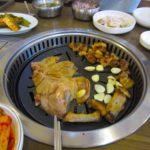 韓国旅行-済州島-黒豚焼肉