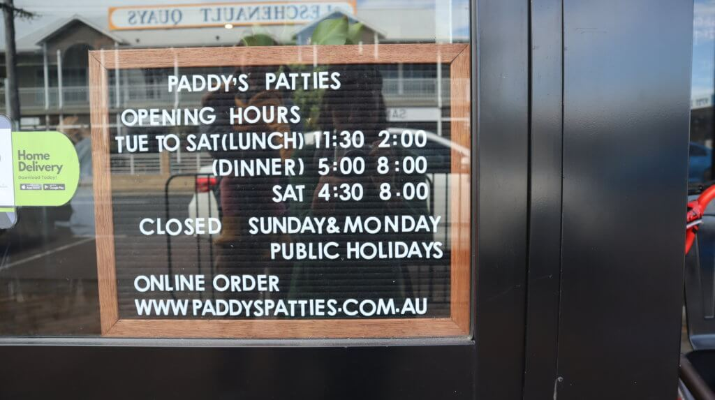 Paddy's Patties-business-hours