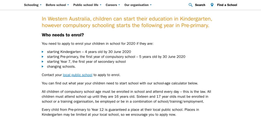 enrolling-schoo-prekindy-kindy-preprimary-primary-australia